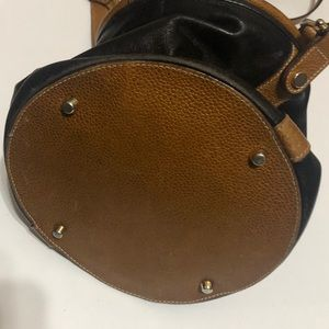 Michel Cloetta Bags - Vintage Michel Cloetta  leather mini bucket bag